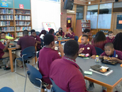"Sixth grade ""Reading Lunch Bunch"" meets again"