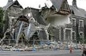 really bad damage done by a earthquake