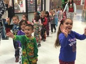 Pre-K and Head Start students in the Pajama Parade!