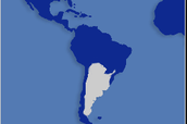 The land mass of Argentina