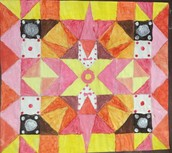Geometric painting and colour mixing - Grade 6