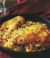 plato destacado- arroz con pollo.....12.00$