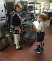 Checking on our Cafeteria Staff---