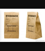 A picture of evidence that has been gathered.