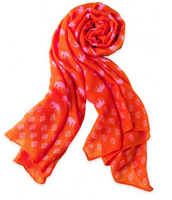 Scarf - Orange/Pink Elephants $30