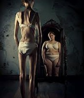 How an anorexic sees themselves