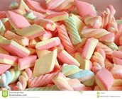 Colored and shaped Marshmallows