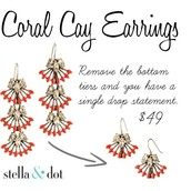 Coral Cay Earrings- $20