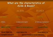 The characteristics of acids