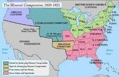 Map of the US after the Missouri Compromise