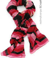 Luxembourg Scarf - Red Multi-stripe was $59 now $29.50