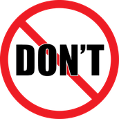 Dont's