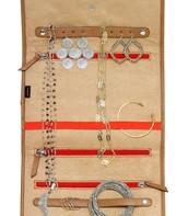 Bring It Jewelry Roll - Espresso Ikat (view 2 - open)
