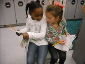 Discussing math strategies! Well-done girls!