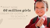66 million girls dreams are education