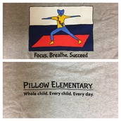 Student-designed tshirt number 1...for our Pillow Think Fitness Thursdays!