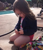 Adah at the Pool