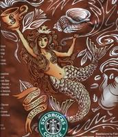 An actual Norse woodcut twin-tailed siren/mermaid