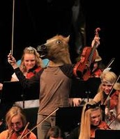 "Orchestra ""horsing"" around"