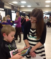 Jackson is showing Book Creator at the Learning Showcase.