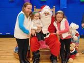 2014!  Sisters and Santa!