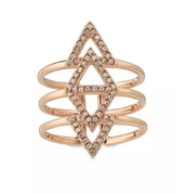Pave Spear Rose Gold Ring M/L