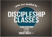 Discipleship Classes Sunday Nights