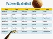 DMS Basketball Schedule