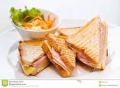 El sandwich de jamon y queso
