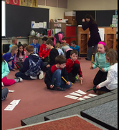 3rd graders learning about sixteenth notes and creating compositions with them! #FrankPride