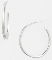 Signature Hoops - Silver $15 SOLD (Laurie Moyer)