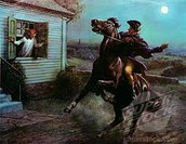 Paul Revere yelling the British are coming