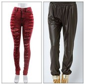 High Waist Destroyed Jeans, Faux Joggers etc
