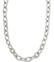 Christina Link Necklace- Silver