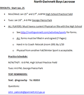 Boys' Lacrosse Tryouts