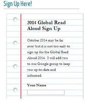 Global Read Aloud 2014- Sign up NOW!