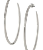 Signature Hoops in Silver - £13