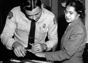 The arrest of Rosa Parks