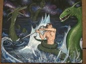 Grendel  mother vs. Beowulf