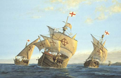 What Issues did Columbus and his crew have on their way to the Americas.