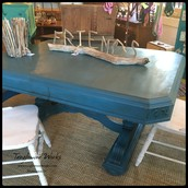$425 - Blue Chalk Paint Dining Table