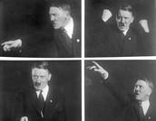 Adolf Hitler displaying 'humorous' side as he poses for photographer, September 1930.