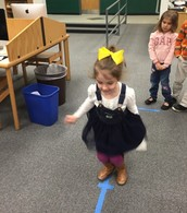 Kindergarteners Hopping on the Number Line