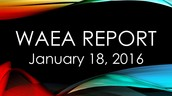 WAEA Report