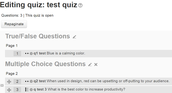 Quiz Headings