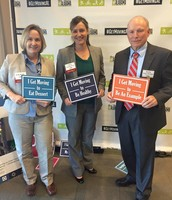 Erin Reilly, Tiffany Higginbotham, and Dr. Hank Williford support physical activity!