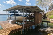 Covered Dock on Deep Water