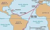 Amerigo's Vespucci's Route