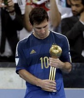 Messi's trophie for being the best player in the world cup