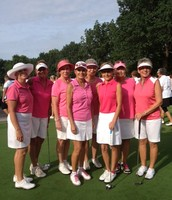 Dressed in pink and ready to win!